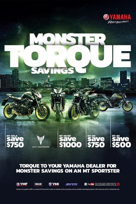 Monster Torque Sale